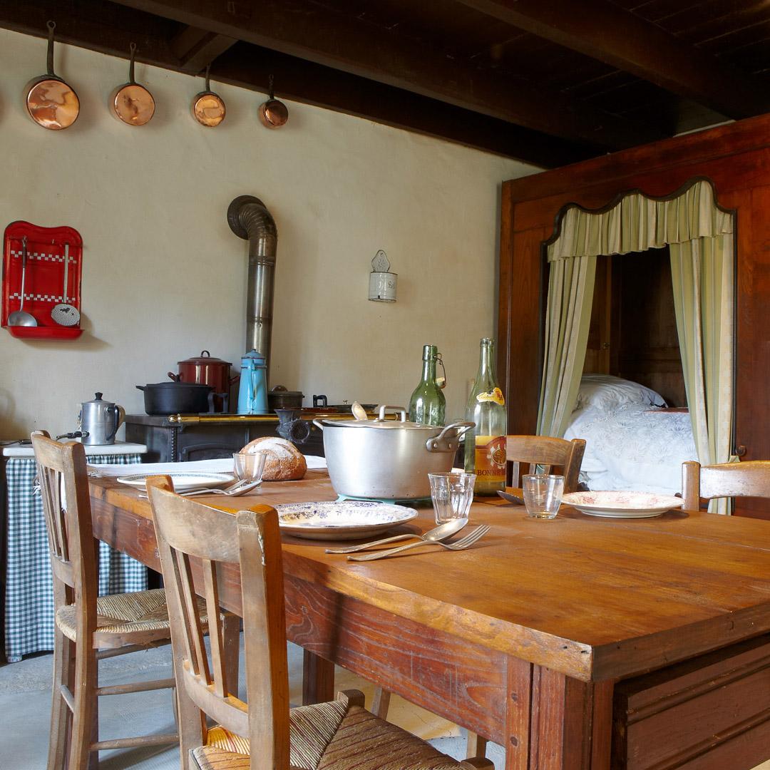 la maison d'habitation bretonne à l'écomusée de Plouigneau