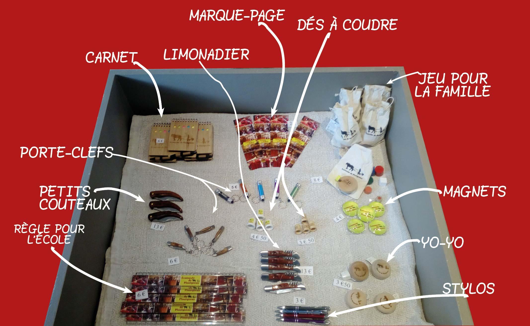 boutique de petits cadeaux écomusée de Plouigneau
